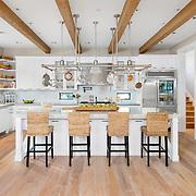 Classic interior kitchen architecture in bright white