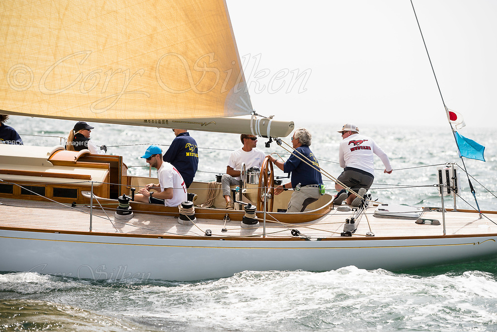 Mustang sailing in the Sail Nantucket Regatta, day two.