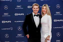 Nico Rosberg, Vivian Sibold arriving to the Laureus Sports Awards 2019 ceremony at the Sporting Monte-Carlo in Monaco on February 18, 2019. Photo by Marco Piovanotto/ABACAPRESS.COM