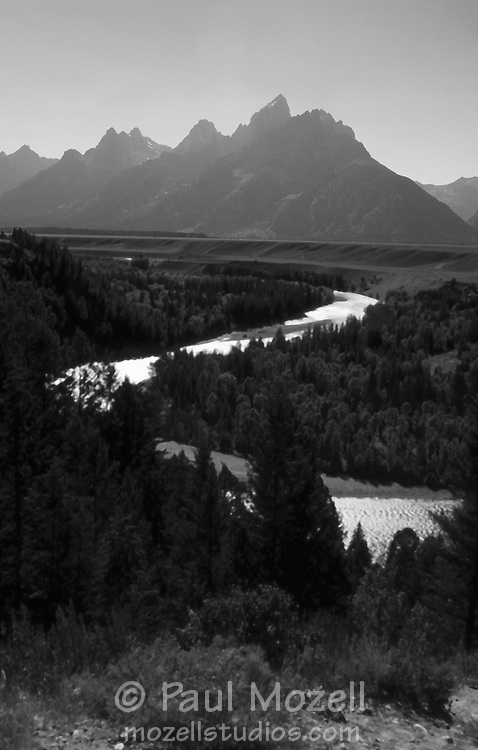 The Snake River in Grand Teton National Park, from the viewpoint made famous by Ansel Adams in his 1942 photograph