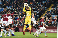 Swansea City goalkeeper Erwin Mulder (25) makes an important save during the The FA Cup 3rd round match between Aston Villa and Swansea City at Villa Park, Birmingham, England on 5 January 2019.