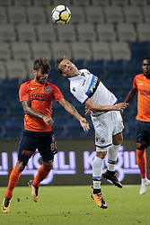 August 2, 2017 - Istanbul, Turquie - ISTANBUL, TURKEY - AUGUST 02 : Jelle Vossen forward of Club Brugge in an airduel with Junior Caicara of Istanbul Basaksehir pictured during the UEFA Champions League third qualifying round 2nd leg match between Istanbul Basaksehir and Club Brugge at the Basaksehir Fatih Terim Stadium on August 02, 2017 in Istanbul, Turkey, 2/08/17 (Credit Image: © Panoramic via ZUMA Press)