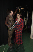 "SAM ARCHER, HELENA BONHAM-CARTER. World Premiere of the theatrical production of ""Edward Scissorhands"" at Sadler's Wells Theatre in London. 30 November 2005. ONE TIME USE ONLY - DO NOT ARCHIVE  © Copyright Photograph by Dafydd Jones 66 Stockwell Park Rd. London SW9 0DA Tel 020 7733 0108 www.dafjones.com"