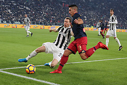 December 20, 2017 - Turin, Piedmont, Italy - Ricardo Centurion (Genoa CFC) during the Italian Cup football match between Juventus FC and Geona CFC at Allianz Stadium on 20 December, 2017 in Turin, Italy. ..Juventus won 2-0 over Genoa. (Credit Image: © Massimiliano Ferraro/NurPhoto via ZUMA Press)