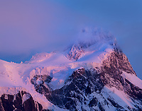 Paine Grande alpenglow, Torres del Paine National Park, Patagonia, Chile