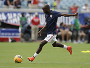 JACKSONVILLE, FL - JUNE 07:  Defender DaMarcus Beasley #7 of the United States warms up before the international friendly match against Nigeria at EverBank Field on June 7, 2014 in Jacksonville, Florida.  (Photo by Mike Zarrilli/Getty Images)