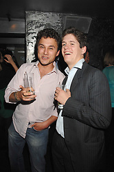 Left to right, THOMAS VAN STRAUBENZEE and SAM BARRATT at the weigh-in party for the Boodles Boxing Ball held at Kitts 7-12 Sloane Square, London on 29th May 2008.<br /> <br /> NON EXCLUSIVE - WORLD RIGHTS