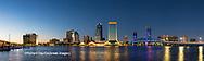 63412-01009 St. Johns River and Jacksonville Florida skyline at twilight Jacksonville, FL