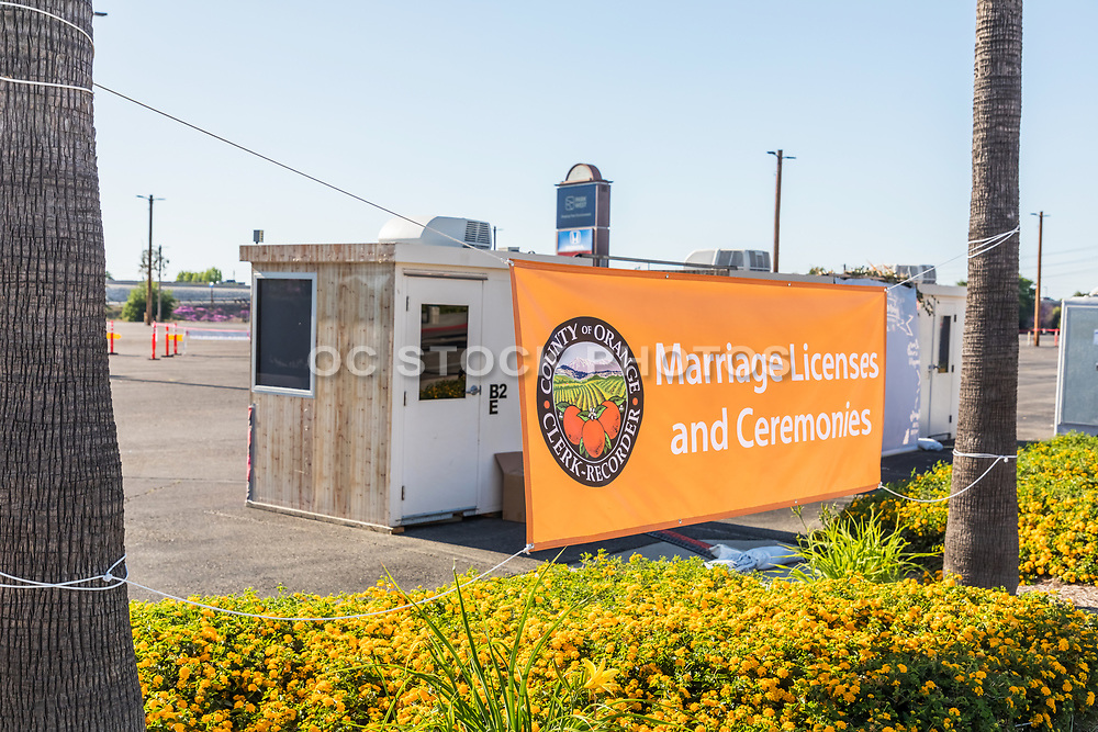 County of Orange Clerk Recorder Temporary Building for Marriage Licenses and Ceremonies During Covid19 Shutdown