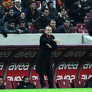 Galatasaray's coach Fatih Terim during their Turkish Superleague soccer match Galatasaray between Sivasspor at the Turk Telekom Arena at Aslantepe in Istanbul Turkey on Saturday 26 November 2011. Photo by TURKPIX