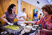 Fun, Community Event where local people sample food and wines with fellow neighbors.