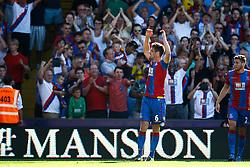 Goal, Scott Dann of Crystal Palace scores, Crystal Palace 1-0 Aston Villa - Mandatory byline: Jason Brown/JMP - 07966386802 - 22/08/2015 - FOOTBALL - London - Selhurst Park - Crystal Palace v Aston Villa - Barclays Premier League