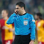 Referee's Bulent Yildirim during their Turkish superleague soccer derby match Fenerbahce between Galatasaray at Sukru Saracaoglu stadium in Istanbul Turkey on Saturday 17 March 2012. Photo by TURKPIX