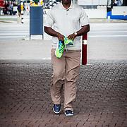 NLD/Amsterdam/20160813 - Boekpresentatie en clinic oud atleet Ben Johnson,