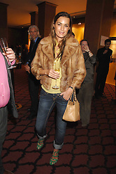 YASMIN LE BON at a party to celebrate the first year if ING's sponsorship of the Renault Formula 1 team, held at the Mayfair Hotel, Stratton Street, London W1 on 28th November 2007.<br />