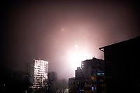 Bialystok, 01.01.2021. N/z sztuczne ognie nad miastem w noc sylwestrowa fot Michal Kosc / AGENCJA WSCHOD