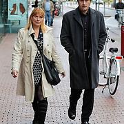 NLD/Amstelveen/20120917 - Uitvaart Rosemarie Smid - Giesen van der Sluis, Margriet Eshuijs en partner Maarten Peters