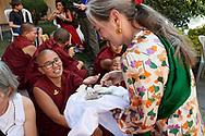 Khenpo Tsultrim Gyatso Birthday Ceremony in Tek Chok Ling Nunnery in Kathmandu with his students, Nepal, 2017