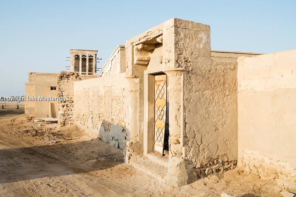 Deserted former fishing village at Jazirat Al Hamra in Ras Al Khaimah emirate in United Arab Emirates UAE
