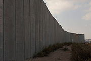The separation wall dividing Israel from the West Bank Territories