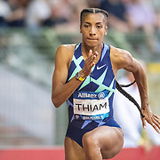 BRUSSELS, BELGIUM:  September 3:   Nafissatou Thiam of Belgium, the olympic heptathlon gold medal winner in Tokyo, during the high jump for women competition during the Wanda Diamond League 2021 Memorial Van Damme Athletics competition at King Baudouin Stadium on September 3, 2021 in  Brussels, Belgium. (Photo by Tim Clayton/Corbis via Getty Images)