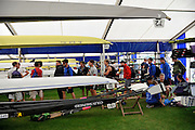 Henley, Great Britain.  General Views, GV's Crew relax and rest between training sessions in the boat tents.  Henley Royal Regatta, 2011 Henley Royal Regatta. River Thames Henley Reach.  Tuesday   28/06/2011  [Mandatory Credit Peter Spurrier/ Intersport Images] 2011 Henley Royal Regatta. HOT. Great Britain . HRR