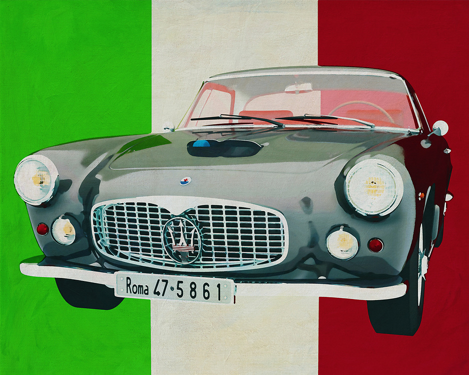 Bring Italian class into your home with this painting by the Maserati 3500 GT from 1960. Maserati is pure Italy and therefore depicted against the Italian colors. The Maserati 3500 GT drives as it were to you and brings a unique class painting to your interior. <br /> <br /> This painting of the Maserati 3500GT from 1960 can be printed on different sizes and materials. Really a piece for every car enthusiast to hang in an office or at home. -<br /> <br /> BUY THIS PRINT AT<br /> <br /> FINE ART AMERICA<br /> ENGLISH<br /> https://janke.pixels.com/featured/the-maserati-3500gt-from-1960-a-pure-italian-car-jan-keteleer.html<br /> <br /> <br /> WADM / OH MY PRINTS<br /> DUTCH / FRENCH / GERMAN<br /> https://www.werkaandemuur.nl/nl/werk/De-Maserati-3500GT-uit-1960-is-een-pure-Italiaanse-auto-/637114/134?mediumId=1&size=70x55