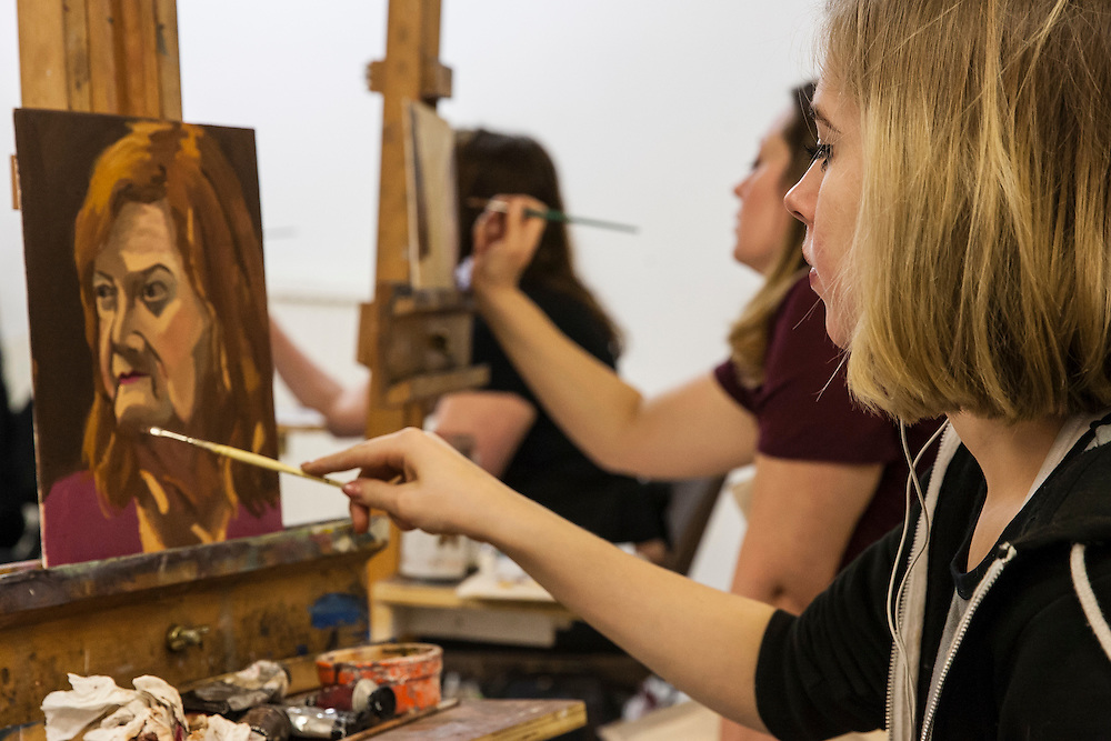 Evening Class, Portrait Painting with Anastasia Pollard, The Art Academy, Mermaid Court, 165A Borough High Street, London, England, on 26th November 2015