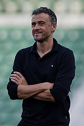 September 11, 2018 - Alicante, Alicante, Spain - Luis Enrique head coach of Spain looks on prior to the UEFA Nations League A group four match between Spain and Croatia at Martinez Valero  on September 11, 2018 in Elche, Spain  (Credit Image: © David Aliaga/NurPhoto/ZUMA Press)