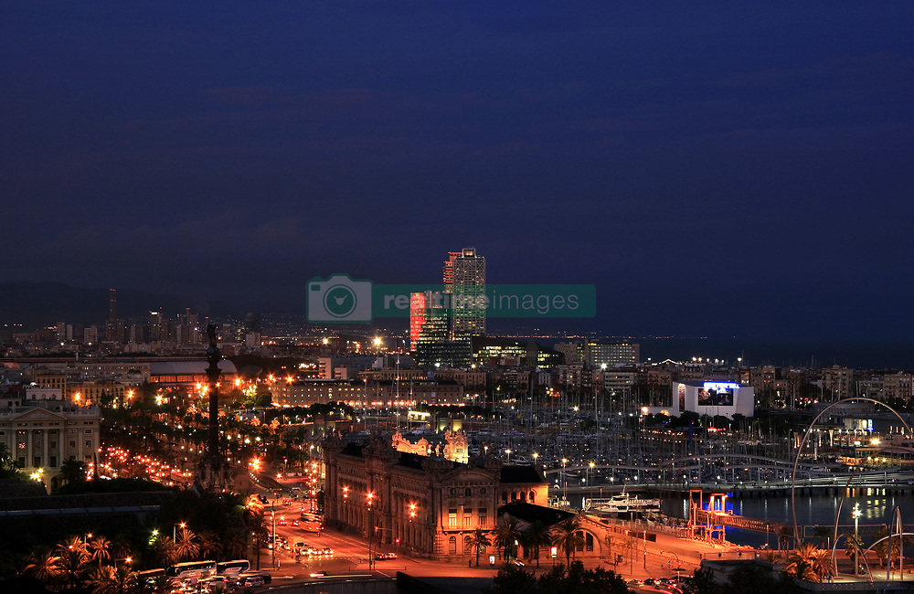 July 21, 2019 - Harbour At Night, Barcelona, Spain (Credit Image: © Peter Zoeller/Design Pics via ZUMA Wire)
