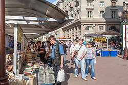 stock photo of an open marketplace in russia