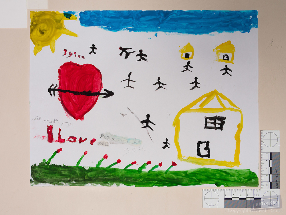 Drawing by 10-12 yr old boy, from art session with the neighborhood boys--not from the school. Topic for session: what do you dream about or hope for?