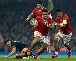 Sione Vailanu of Tonga<br /> <br /> Photographer Simon King/Replay Images<br /> <br /> Under Armour Series - Wales v Tonga - Saturday 17th November 2018 - Principality Stadium - Cardiff<br /> <br /> World Copyright © Replay Images . All rights reserved. info@replayimages.co.uk - http://replayimages.co.uk