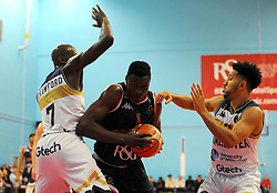 Daniel Edozie of Bristol Flyers try to get by Robert Crawford of Worcester Wolves- Photo mandatory by-line: Nizaam Jones/JMP- 24/11/2018 - BASKETBALL - SGS Wise Arena - Bristol, England - Bristol Flyers v Worcester Wolves - British Basketball League Championship