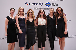 Wiggle High5 pose for a photo at The UCI Cycling Gala 2018 in Guilin, China on October 21, 2018. Photo by Sean Robinson/velofocus.com