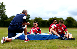 The Goalkeepers look on as Bristol City return to training ahead of their 2017/18 Sky Bet Championship campaign - Mandatory by-line: Robbie Stephenson/JMP - 30/06/2017 - FOOTBALL - Failand Training Ground - Bristol, United Kingdom - Bristol City Pre Season Training - Sky Bet Championship