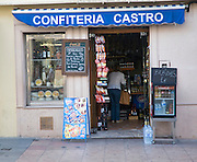 Small local food shop in Ronda, Spainl