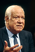 Nicaraguan contra leader Adolfo Calero Portocarrero testifies in Congress November 26, 1996 in Washington, DC.