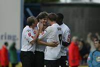Photo: Marc Atkins.<br />Luton Town v Leeds United. Coca Cola Championship. 21/10/2006. Markus Heikkenen (C) celebrates scoring for Luton.