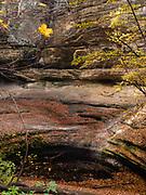 LaSalle Canyon, Starved Rock State Park, near Ottawa, Illinois, USA on a beautiful autumn day.