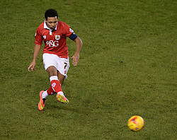 Bristol City's Korey Smith - Photo mandatory by-line: Alex James/JMP - Mobile: 07966 386802 - 29/01/2015 - SPORT - Football - Bristol - Ashton Gate - Bristol City v Gillingham - Johnstone Paint Trophy Southern area final
