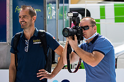 Gorazd Stangelj, Sports Director of Bahrain Merida Pro Cycling Team  and Borut Dvornik, TEM Catez after 5th Stage of 26th Tour of Slovenia 2019 cycling race between Trebnje and Novo mesto (167,5 km), on June 23, 2019 in Slovenia. Photo by Matic Klansek Velej / Sportida