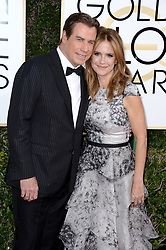 File photo - John Travolta and Kelly Preston attend the 74th Annual Golden Globe Awards at the Beverly Hilton in Beverly Hills, Los Angeles, CA, USA, on January 8, 2017. Kelly Preston, the actress married to John Travolta, has died after a private battle with breast cancer, aged 57. The actress had been battling against breast cancer for two years, with a family representative confirming news of her passing to People today. Photo by Lionel Hahn/ABACAPRESS.COM