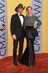 Tim McGraw, Faith Hill bei den 50. Country Music Awards in Nashville / 021116<br /> <br /> *** Country Music Awards 2016, Nashville, USA, November 2, 2016 ***