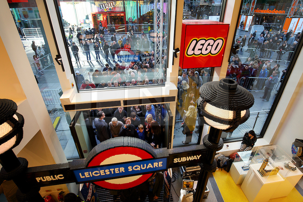© Licensed to London News Pictures. 17/11/2016. London, UK. Lego fans shop as the world's largest Lego Store opens its door in Leicester Square, London on 17 November 2016. Photo credit: Tolga Akmen/LNP