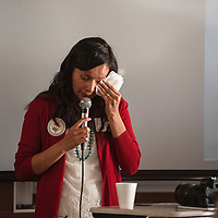 Valya Cisco speaks about her sister Ariel Begay Thursday, June 27 at a Missing and Murdered Dine Relatives Forum in Shiprock. Ariel Begay went missing in 2017 from Oak Springs.