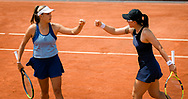 Ellen Perez of Australia and Saisai Zheng of China in action during their first round doubles match at the Roland-Garros 2021, Grand Slam tennis tournament on June 2, 2021 at Roland-Garros stadium in Paris, France - Photo Rob Prange / Spain ProSportsImages / DPPI / ProSportsImages / DPPI