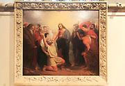 'Christ Healing the Blind Man' painting by Benjamin West 1738-1820, Church of Saint Mary Magdelene, Sternfield, Suffolk, England, UK