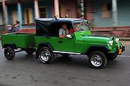 Jeep in Vinales, Pinar del Rio, Cuba.
