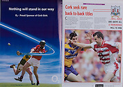 All Ireland Senior Hurling Championship - Final,.11.09.2005, 09.11.2005, 11th Septemeber 2005,.Minor Galway 3-12, Limerick 0-17,.Senior Cork 1-21, Galway 1-16,.11092005AISHCF,.O2,